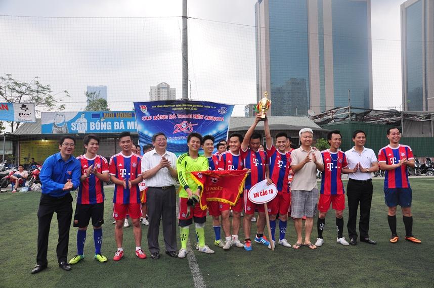 Chung kết giải bóng đá thanh niên cienco1 năm 2015