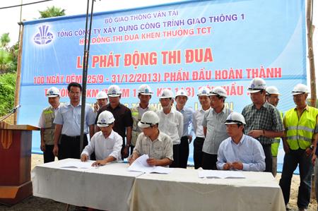 Phát động thi đua 100 ngày đêm thi công gói thầu A5 Cao tốc Nội Bài – Lào Cai