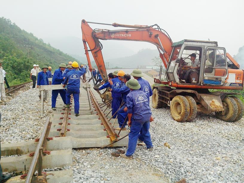 Chuyển tuyến đường sắt do Công ty CP 120 thi công