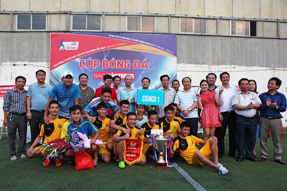 CIENCO 1 vô địch Giải bóng đá Cúp Báo Giao thông 2015