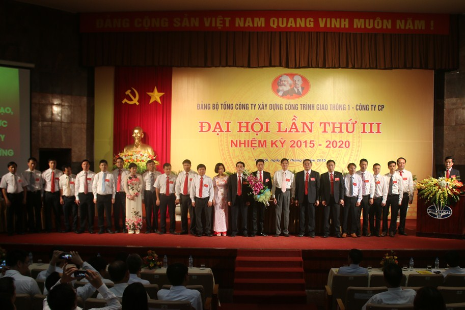 Ban chấp hành Đảng bộ TCT nhiệm kỳ 2015-2020 ra mắt đại hội