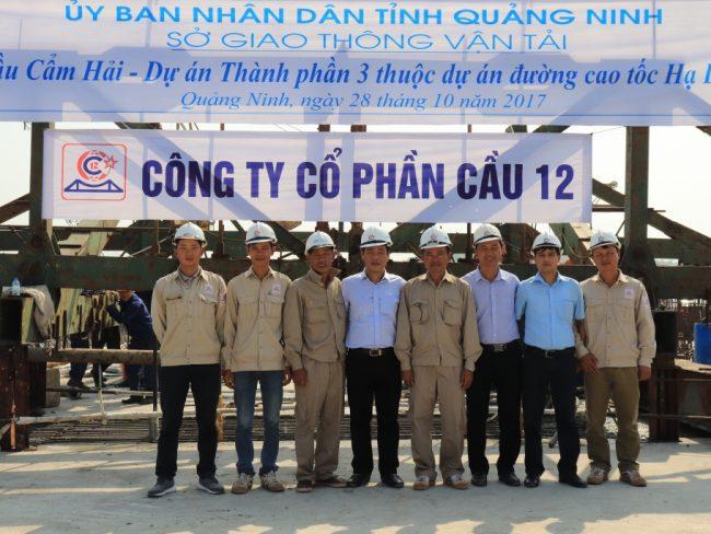 Công ty Cổ phần Cầu 12 tổ chức lễ hợp long cầu Cẩm Hải - Quảng Ninh