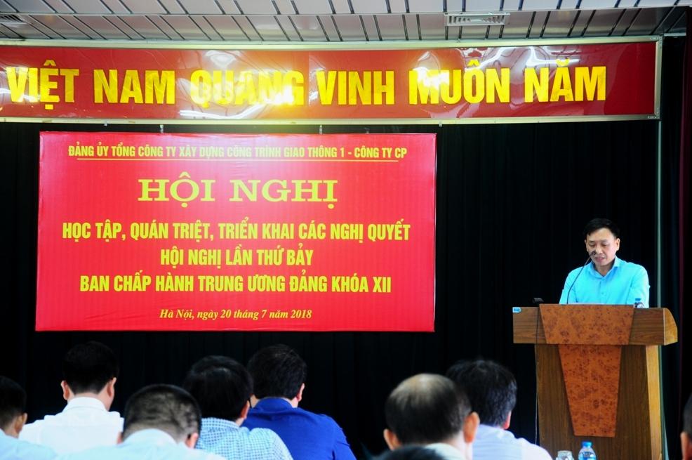 Đồng chí Phạm Văn Hiếu - Chánh văn phòng Đảng ủy TCT khai mạc Hội nghị