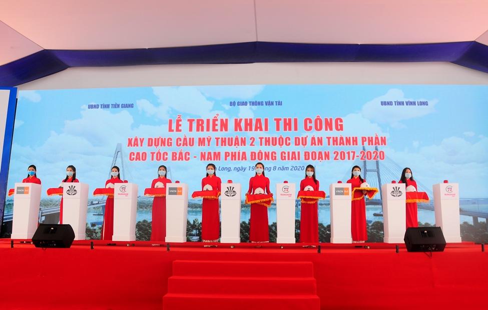 Lễ triển khai thi công cầu Mỹ Thuận 2